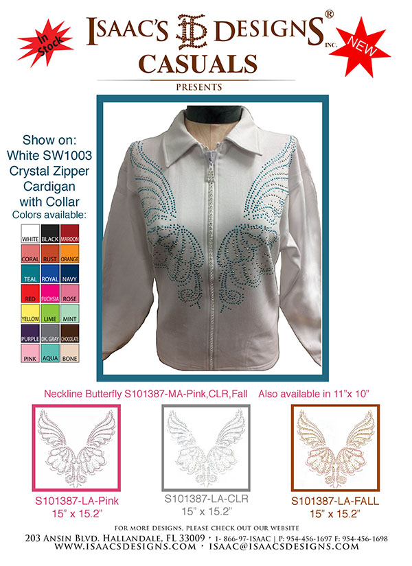 Fall Design S101387-LA-AQUA ON SW1003 CARDIGAN