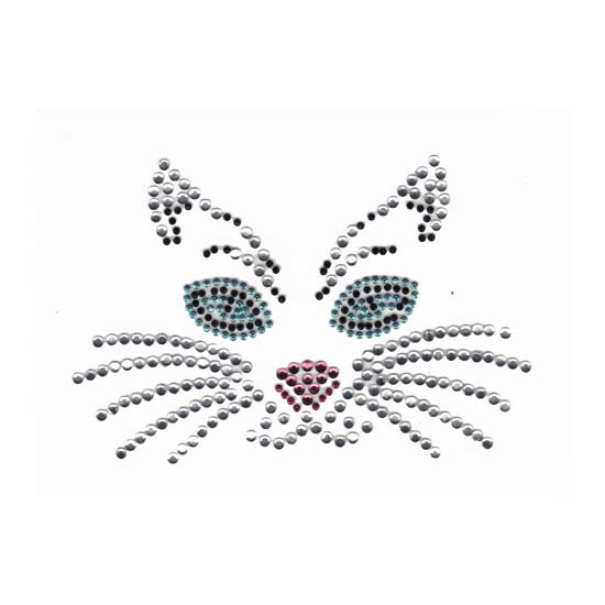 S1306M - MEDUIM TURQ EYE CAT FACE, CATS