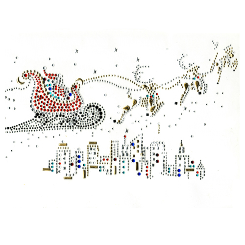 S1453 - SANTA OVER THE CITY,CHRISTMAS,HOLIDAYS