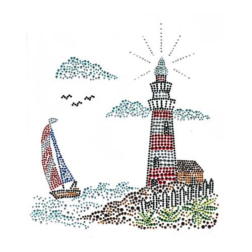 S2026 - LIGHTHOUSE WITH BOAT