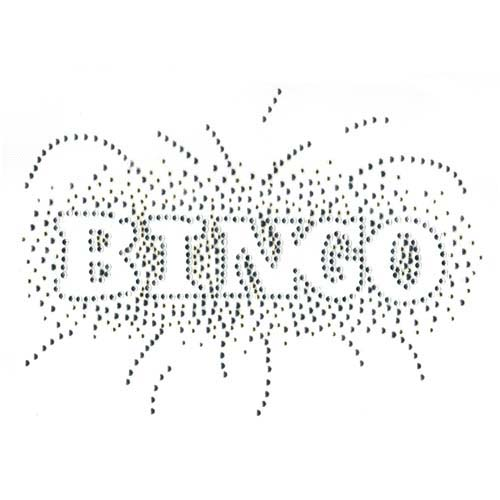 S3200 - BINGO, silver & clear outline (casino)