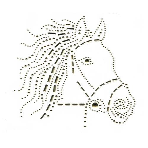 S3209 - Gold horse right