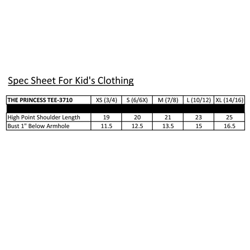 Spec Sheets for Kids Clothing