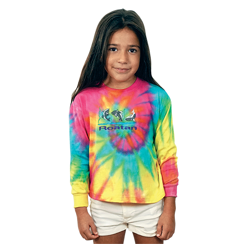 IK401 Long Sleeve Multi Tie Dye Jersey