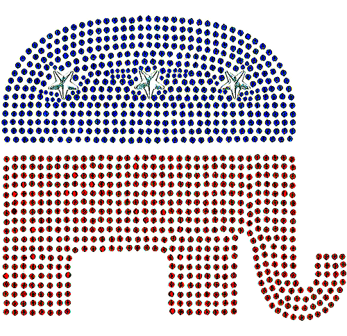 S101097LG - Republican Elephant (Large)