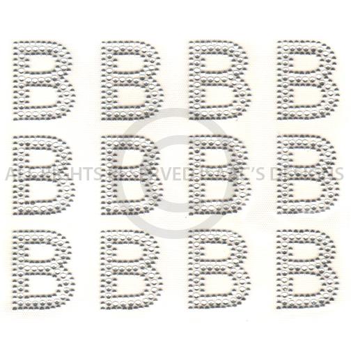 S6514 B BLOCK ALPHABET LETTER B LETTERS Isaacs Designs